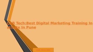 CRB Tech_Best Digital Marketing Training Institute In Pune.pptx