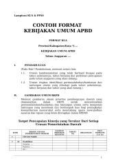 Lampiran KUA & PPAS.doc