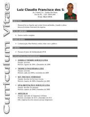 Curriculum Luiz Claudio Francisco dos Santos.doc