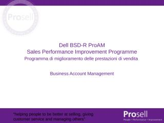 Business Account Management Italiano.ppt