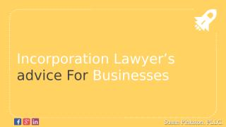 Incorporation Lawyer's advice for Businesses.pptx
