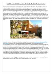 Find Affordable Hotels In Taos, New Mexico For The Most Gratifying Holiday.pdf