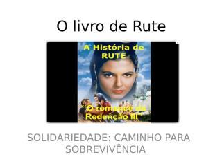 O livro de Rute.ppt