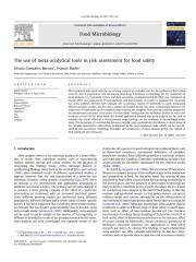 Gonzalez-Barron et al 2011 - the use of meta-analytical tools in risk assessment for food safety.pdf