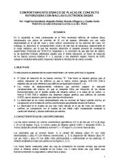 COMPORTAMIENTO SÍSMICO DE PLACAS DE CONCRETO REFORZADAS CON MALLAS ELECTROSOLDADAS.pdf