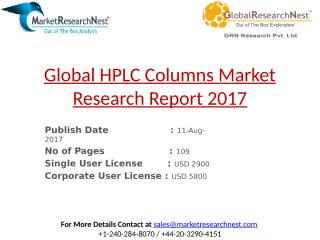 Global HPLC Columns Market Research Report 2017.pptx