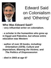 Indg201_EdwSaidOnColonialism.ppt