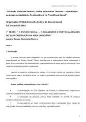 Serviço Social_O Estudo Social em Percias, Laudos e Pareceres Tcnicos1 - Contrib. ao Debate no Judicirio, Pen.doc