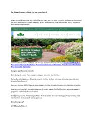 Put A Lawn Program In Place For Your Lawn Part - 1.pdf