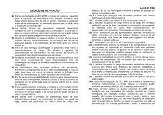 Exercicos II - LEI 8112.doc